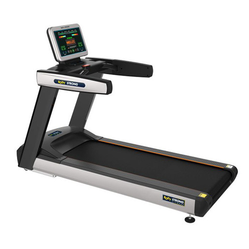 Specification : Monitor Screen : 18,5 inch LED Dimension : 230 cm x 100 cm x 165 cm Motor : 4.8 HP AC, Max to : 7.0 HP Speed Range : 1-20 km / hour Max User : 180 kg Running Surface : 150 cm x 60 cm Running Belt : SIEGLINGTM, Germany's, thickness 4 mm Include Range : 0-20% Inverter : Mitsubhisi Japan Waxing System : Self Lubrication Dock Tipe : Shock-proof Elastis Running Board Gross Weight : 280 kg, Nett Weight : 190 kg